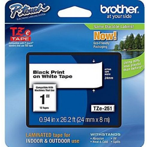 Brother TZe251 szalagkazetta (Eredeti) Ptouch